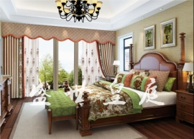 美式风格窗帘